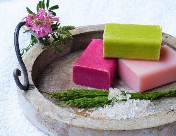 real handmade bars of soap