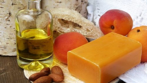 orange almond soap