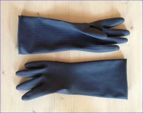 safety gloves for soap making
